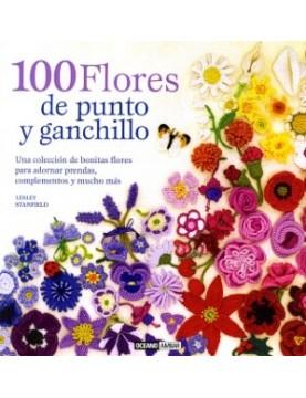 100 Flores de punto y...