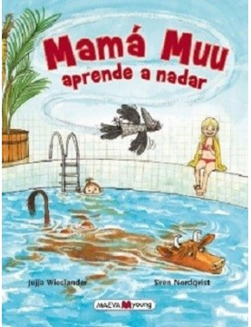 Mamá Muu aprende a nadar